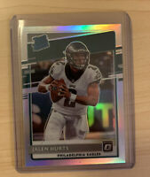 JALEN HURTS 2020 PANINI DONRUSS OPTIC RATED ROOKIE SILVER HOLO PRIZM RC SP