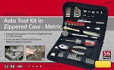 Apollo Tools 56 Piece DIY Household Mechanics Tool Kit w/ Compact Zippered Case