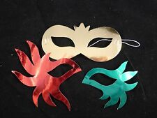 Cheap / Bargain Kids Fun Metallic DIY Masks x Set of 8 Great for Parties etc