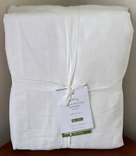 "Pottery Barn Belgian Flax Linen Bed Skirt ~ 14"" Drop ~ Full ~ Flagstone Gray"