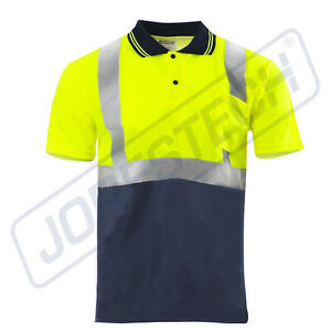 NEW JORESTECH ANSI/ISEA Class 2 Safety Reflective Quick-Dry Polo Shirts