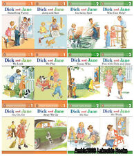 Dick and Jane Readers Series Level 1 & 2 Collection Set 1-12 Ages 3-7 BRAND NEW!