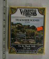 Lot 10-159 * HO Scale Woodland Scenics kit TS154, Tie & Plank Mill - White metal