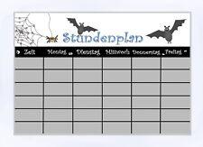 Einschulung Stundenplan Fledermaus laminiert