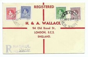 New Guinea 1937 Coronation GVI on cover with 5d Re-entry variety SG 210a c£130