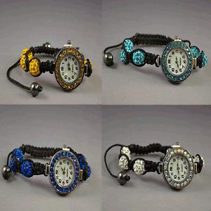 Women's Crystal Shamballa Watch Bracelet 6  Balls 10mm Girls', Quartz: Battery