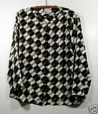 Woman's 20W MAGGIE BARNES Career Geometric Prints Multi-color 100% Polyester Top