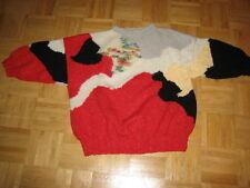 Einzelstück Handgestrickter Mohair, Angora Mix Pullover