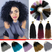 REAL Natural Water Wave Crochet Braids Deep Curly as Human Hair Extensions Soft