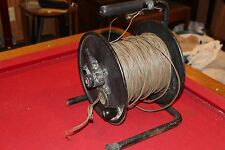 MILITARY SURPLUS REELING MACHINE FIELD PHONE RADIO WF-16 U TELEPHONE WIRE CABLE