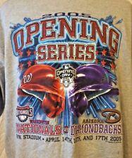NEW Men's 2005 Nationals vs Diamondbacks Opening Day SIZE 2XL T-Shirt MLB NWT