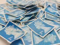 100 2nd class stamps unfranked off paper No Gum Perfect for your need
