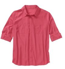 George Womens Plus-size Blouse Woven Oversized 1x 16w Pink