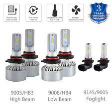 6x For Jeep Commander 06-10 9005 9006 Headlight & Foglight 9145 LED Combo Bulbs