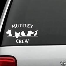 B1104 Mutt Crew Great Dane Yorkie Terrier Labrador Chihuahua Dog Decal Sticker