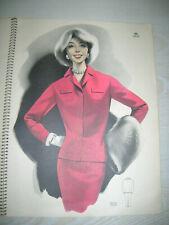 VINTAGE - Orig. Damen Mode Bilder Katalog Modegrafik von 1959 mit 23 Bildern