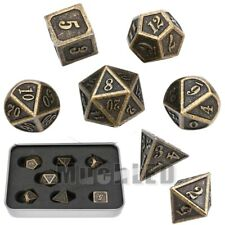 7Pcs/set Antique Metal Polyhedral Dice DND RPG MTG Role Playing Game With Box