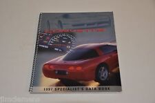 1997 CORVETTE SPECIALIST'S DATA BOOK - FOR DEALERSHIP PERSONNEL ONLY