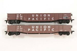 HO Athearn & Bev-Bel Union Pacific 50ft Mill Gondola Cars Dif  Road #s Xlnt