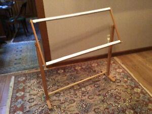 Needlework Floor Stand w/ Adjustable Frame