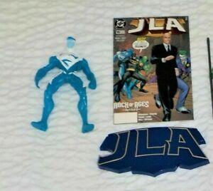 1998 Hasbro JLA Justice League Superman Blue Figure Loose w/ stand/backdrop