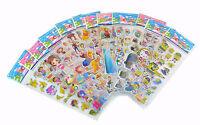 10Pcs Baby Cartoon Stickers Cute Children's Toy Kindergarten Reward Sticker