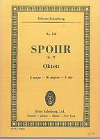 Taschenpartitur Louis Spohr : Oktett - E- dur - Op. 32