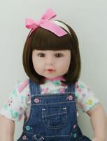 22'' Reborn Baby Doll Full Body Vinyl Silicone Lifelike Girl Doll Bath Xmas Gift