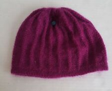 DIESEL WOMEN'S SWEATER KNIT BEANIE STOCKING CAP HAT FUCSHIA ONE SIZE