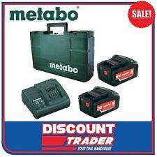 Metabo 18V 5.2Ah Lithium-Ion Starter Pack - Charger Batteries Case - MET625592