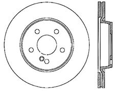 Disc Brake Rotor-Sport Drilled/Slotted Disc Rear Left Stoptech 127.35063L