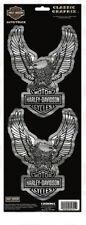 "Harley-Davidson Sticker "" Silver Eagle 2teilg for Car Motorcycle cg-32701"
