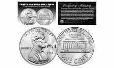 1943 TRIBUTE Steelie WWII PENNY Coin Clad in Genuine .999 Fine SILVER - Lot of 3