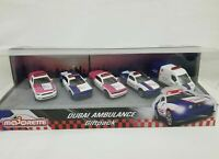 MAJORETTE 5 PCS SET DUBAI AMBULANCE EMERGENCY FORD MUSTANG DODGE CHARGER RENAULT