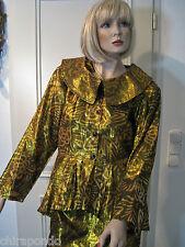 Abendkostüm Gr. 36 Gr. 38 gold bronce Rock Bluse Bustier Jacke 4 Teile 1 PREIS