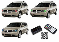 for Dodge Journey 09-13 RGB Multi Color Bluetooth LED Halo kit for Headlights