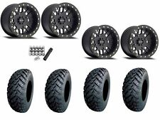 "Method 406 Beadlock 14"" Wheels Rims Black 30"" EFX MotoHammer Tires Turbo 1000"