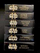 Star Wars™ THE COMPLETE SAGA Final Release VINTAGE RARE Saga Artwork VHS HTF SET