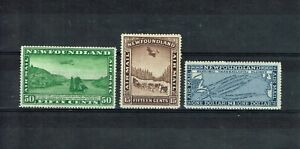 CANADA NEWFOUNDLAND - KGV 1931 AIR SG 195/197 FINE MINT NEVER HINGED SET