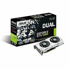 Asus nVidia GeForce GTX 1060 Dual OC 3GB GDDR5X Graphics Video Card DVI HDMI DP