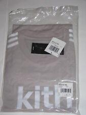 Kith x adidas Soccer Flamingos Away Logo Tee Shirt Grey/White Men's Large NEW!