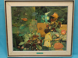 """NOTABLE EARLY WORK COLLAGE ART WORK by ROBERT SWEDROE """"CORAL REEF"""""""