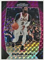 2017-18 Prizm Mosaic Dwyane Wade #'d 66/99 Purple Parallel Cavaliers Bulls Heat