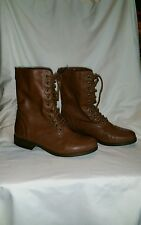 Women's BONGO BOOTS Fashion VICTORIAN STEAMPUNK Brown Cognac Shoes 5