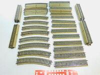 BY577-3# 60x Märklin H0/AC Gleisstück/Schiene 5100/5106 M-Gleis gebogen/gerade