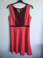 Boden New Monica Dress - Pink/Maroon - Size 12R