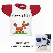 Mini tee shirt voiture chien à bord personnalisé réf 09