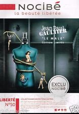 Publicité advertising 2015 Parfum Le Male Jean paul Gaultier chez Nocibé