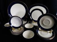 Versatile Taylor Smith Taylor 24 Piece COBALT BLUE, service for 4.   vintage,