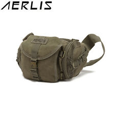 AERLIS Men Women Canvas Multifunctional Casual Outdoor Travel Crossbody Bag Hiki